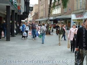Exeter High Street Shopping