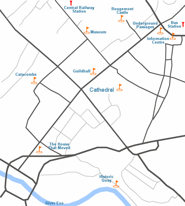 Exeter attractions map