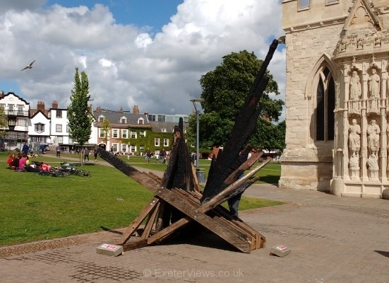 Hope and Renewal - Burnt Timber Sculpture
